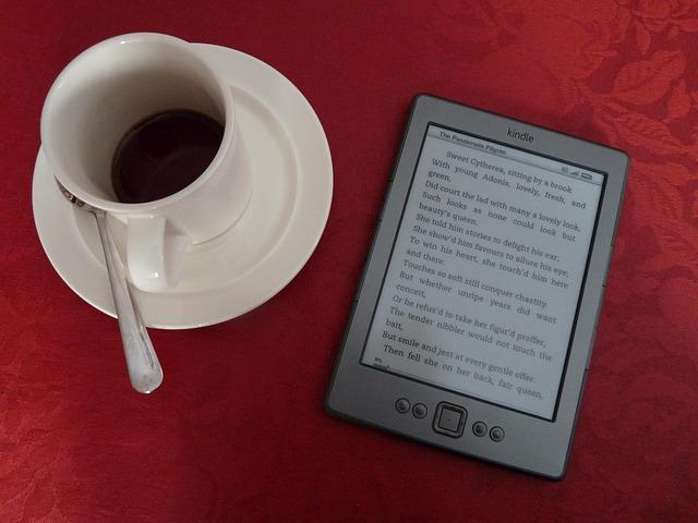 káva u ebooku